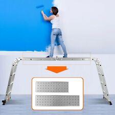 Folding Ladder 4.7M Multi-Purpose Extendable Step Aluminum Ladders W Platform