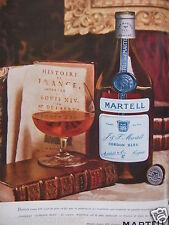 PUBLICITÉ 1962 COGNAC MARTELL CORDON BLEU - ADVERTISING