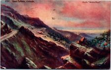 Railroad Postcard Giant Palisade Colorado CO RR Track Sunset On Moffat Road 1909