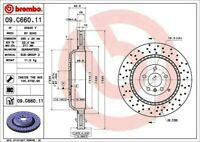 Disc Brake Rotor-Premium UV Coated OE Equivalent Rotor Rear Brembo 09.C660.11