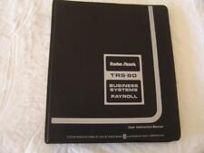 TRS-80 Model 1 Software - BUSINESS SYSTEMS PAYROLL 8 x Cassettes in orig Binder