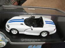 EAGLE RACE 1/43 DODGE VIPER RT/10 CABRIOLET 1996 BLANCHE/BLEUE !!!