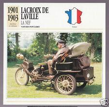 1901 1902 1903 Lacroix de Laville La Nef Car Photo Spec Sheet Stat French Card