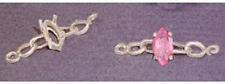 8x4mm Marquise Chain Style Silver Pre-Notched Bracelet Link Setting