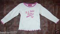 U.S. Polo Assn. Toddler Girls Long Sleeve Shirt  Top Size 2T NWT