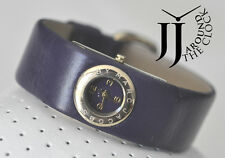 NEW MARC BY MARC JACOBS MINI PURPLE LEATHER GOLD WATCH MBM8545 20MM