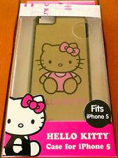 HELLO KITTY BLACK iPHONE 5 CASE Sleek Profile Hardshell Protector Pink >NEW<