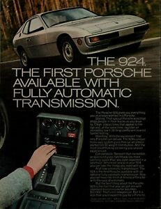 1977 Porsche 924 First Availability With Fully Automatic Transmission Print Ad