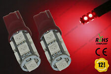 2x T10 w5w 501 LED Bulbs Tail Stop Red Parking Lights Position Lamps BMW Audi VW
