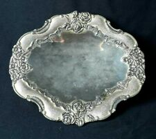 Vintage Silver Plated Candy Delight Sugar Dates Dish Pedestal Footed Engraved