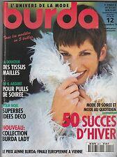 Magazine Burda N°12 décembre 1994 patrons couture