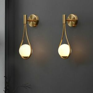 Creative Wall Lamp Nordic Personality Living Room Metal Bedside Glass Light