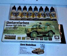 German ISAF Umtarnfarben Airbrush Color Set 8 Farben Vallejo Model Air 71159