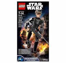 NEW IN BOX! LEGO Star Wars Constraction Sergeant Jyn Erso Buildable Figure 75119