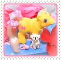 ❤️My Little Pony MLP G1 Vtg 1987 BABY Peek-a-Boo Snippy Yellow Scissors Pony❤️