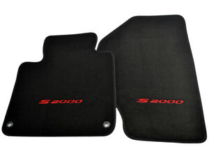 Floor Mats For Honda S2000 Black Tailored Carpets With Red S2000 Logo LHD NEW