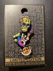 Hard Rock Cafe Wroclaw Breslau Skull Bobble Head Guitar Pin Limited Edition LE