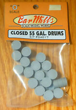Bar Mills #4017 (O Scale) Closed 55 Gal Drums (kit)