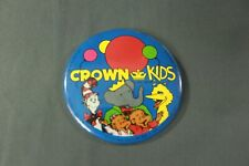 VTG 1988 Crown Kids Large Button Pin Cat in the Hat, Big Bird Baba Bearanstain