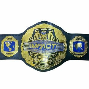 SH New TNA Impact Wrestling Champion Leather Belt Replica Size Adult Gold plates
