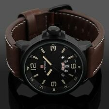 Naviforce Fashion Leather Strap Luxury Sport Analog Quartz Mens Wrist Watch