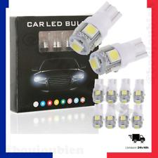 Lot 10 LED 12V Ampoule Voiture W5W 5 T10 SMD Veilleuse Plafonnier Plaque 5050
