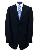 "Freemasons Black Herringbone Wool Jacket 46"" Long"