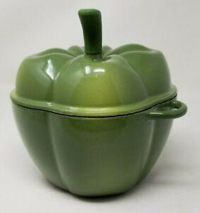 Technique Green Bell Pepper Enameled Cast Iron Dutch Oven Pot Casserole