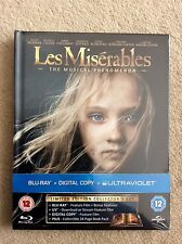 Les Miserable Limited Edition Digibook; Blu-ray+Digital Copy+Ultraviolet SEALED