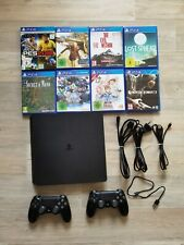 Sony PlayStation 4 Slim 500GB Spielkonsole mit 2 Controllern + 8 Spielen