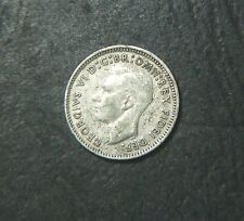 1951  Australian Threepence, error planchet peel on obverse