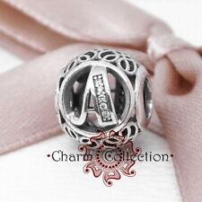 Pandora, S925, Vintage Alphabet Letter A, Bracelet Charm, NEW, 791845CZ