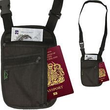 Cuerpo de viaje de Bloqueo de RFID Cartera Hombro Cuello Porta Pasaporte Documento bolsa caso