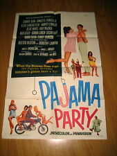 Pajama Party Orig, 1sh Movie Poster '64 Annette Funicello in sexy lingerie