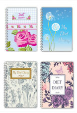 Diet Food DIARY WEIGHT LOSS PLANNER JOURNAL SLIMMING TRACKER/ A5 DIARY/ROSE