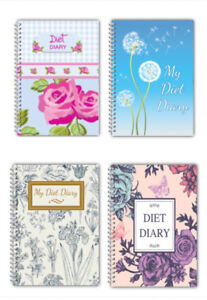 Diet Food DIARY WEIGHT LOSS PLANNER JOURNAL SLIMMING TRACKER A5 50 PAGES ROSE