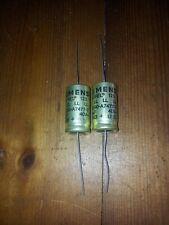 coppia condensatori Siemens Sikorel gold pair capacitor 470 uF 40 volt NOS