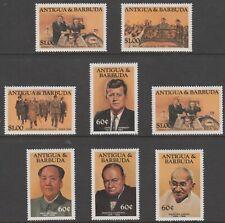 280 - Antigua 1984 FAMOUS PEOPLE (Churchill, JFK, Gandhi etc set of 8 unmounted