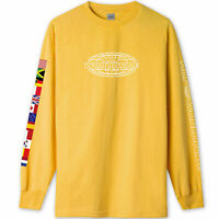 HUF World Tour Long Sleeve Tee Sauterne Yellow BNWT NEW