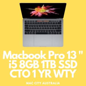 Refurbished Apple MacBook Pro 13 inch Mid 2018 CTO 8GB 1TB SSD + 1 Yr Warranty