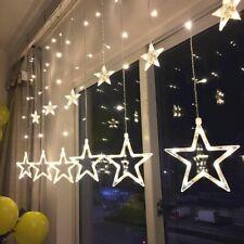 Indoor Decoration Led Pentagram Birthday Christmas Star Curtain Light 220V 350Cm