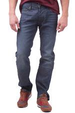 ARMANI JEANS Blue Jeans W32 L34 Crumpled Worn Look Straight Leg Regular Fit