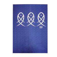 Door Curtain Japanese Noren Doorway Foil Party Decoration Divider Hanging Blue