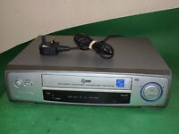 LG LV210 Video Cassette Recorder VHS Smart VCR Silver Long Play Small Slim