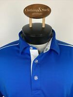 Callaway Mens Opti-Dri Golf Polo Shirt Sz M Royal Blue Polyester