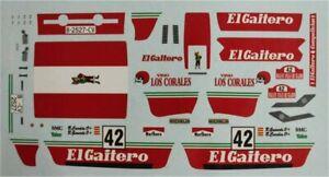 "Fiat 131 Abarth ""El Gaitero"" - Rally Villa Gijon 1983 - Bernardo Cardin - Decal"
