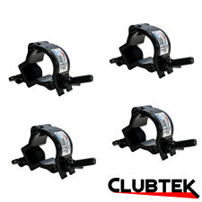 4 x Black Half Coupler Light Bar O-Clamp Truss Rigging 35mm 75Kg UK