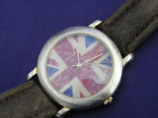 LOVELY PAST TIMES OLD STYLE UNION JACK QUARTZ LADIES WATCH Super condition