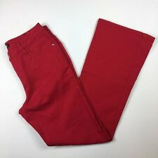 NEW Metrostyle Size 6 Red Jeans Straight Leg Cotton Stretch Denim Womens NWOT