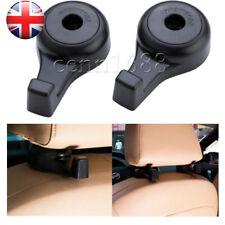2 PCS Auto Car Interior Headrest Seat Back Luggage Hanger Hooks Organizer Black